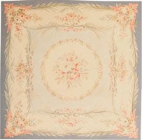Antique Aubusson French Rug 43796 Color Details - By Nazmiyal