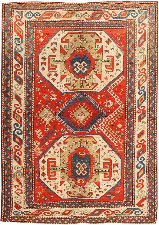 Antique Kazak Caucasian Rug #43276 Main Image - By Nazmiyal
