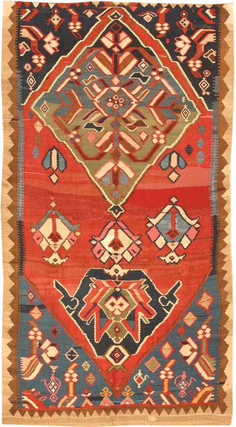 Antique Kilim Persian Carpets #3406 Main Image - By Nazmiyal