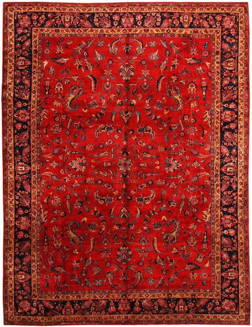 Antique Sarouk Persian Rug 43524 by Nazmiyal
