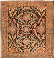 Antique Heriz Serapi Persian Rugs 43247 Color Details - By Nazmiyal