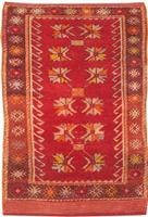 t antique oushak rug 432971 Antique Ivory Background Oushak Carpet From Turkey 47443