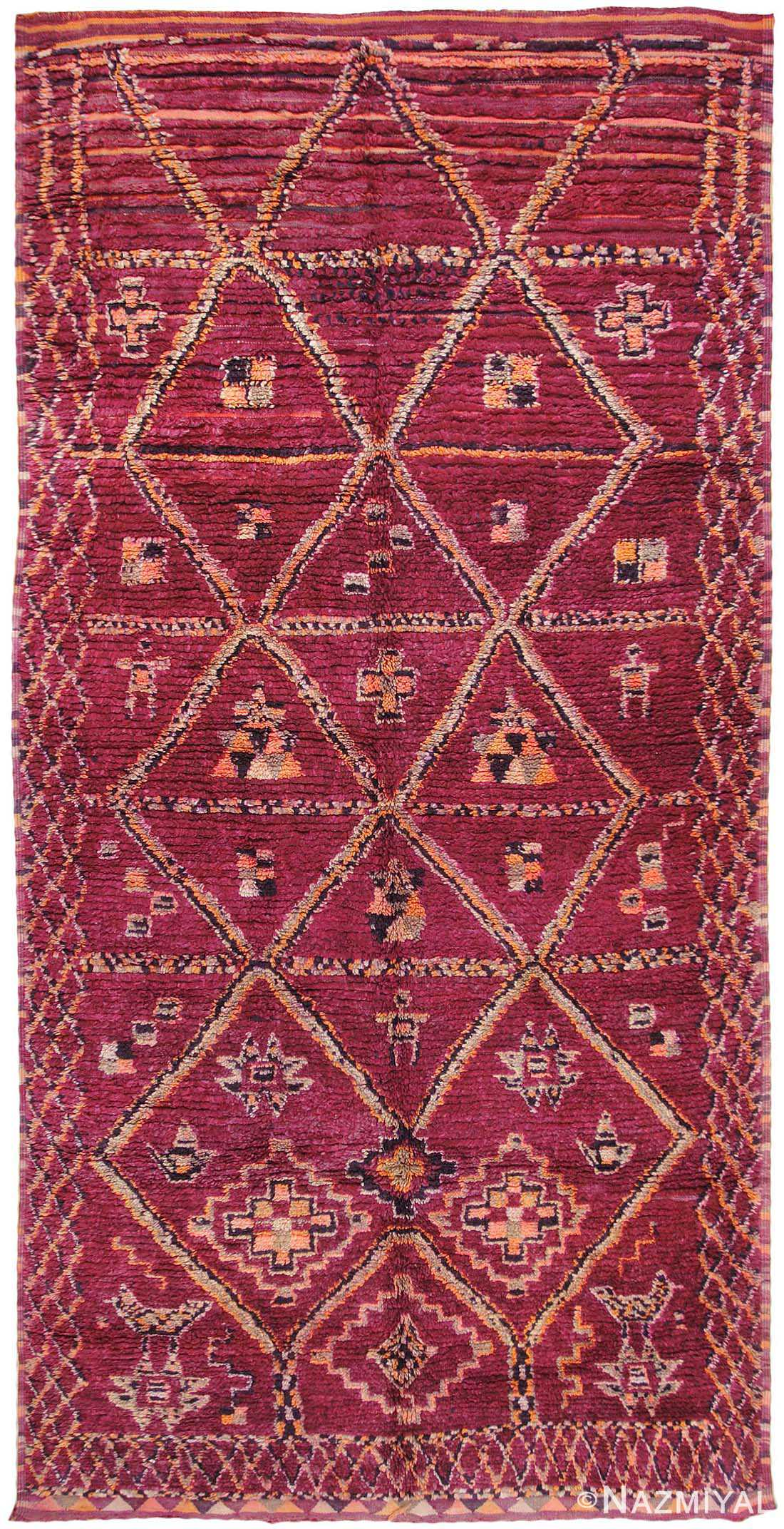 Vintage Moroccan Oriental Rugs 44464 Nazmiyal Collection