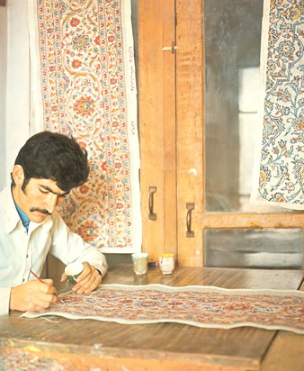Persian carpet production