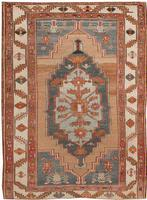 t 45015 Antique Bakshaish Rug Antique Persian Heriz Serapi Carpet 47457