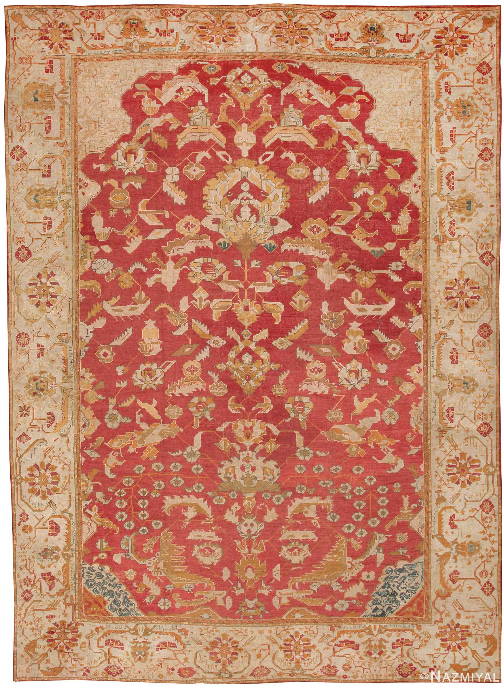 antique oushak turkish carpets 41688 nazmiyal collection
