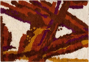 45165 Vintage Art Deco Rug Color Vintage Swedish Rya Rug 47323