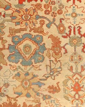 antique sultanabad persian area rugs 435051 small Antique Light Blue Persian Sultanabad Carpet 47270