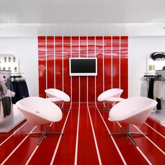 Red Modern Interior Design