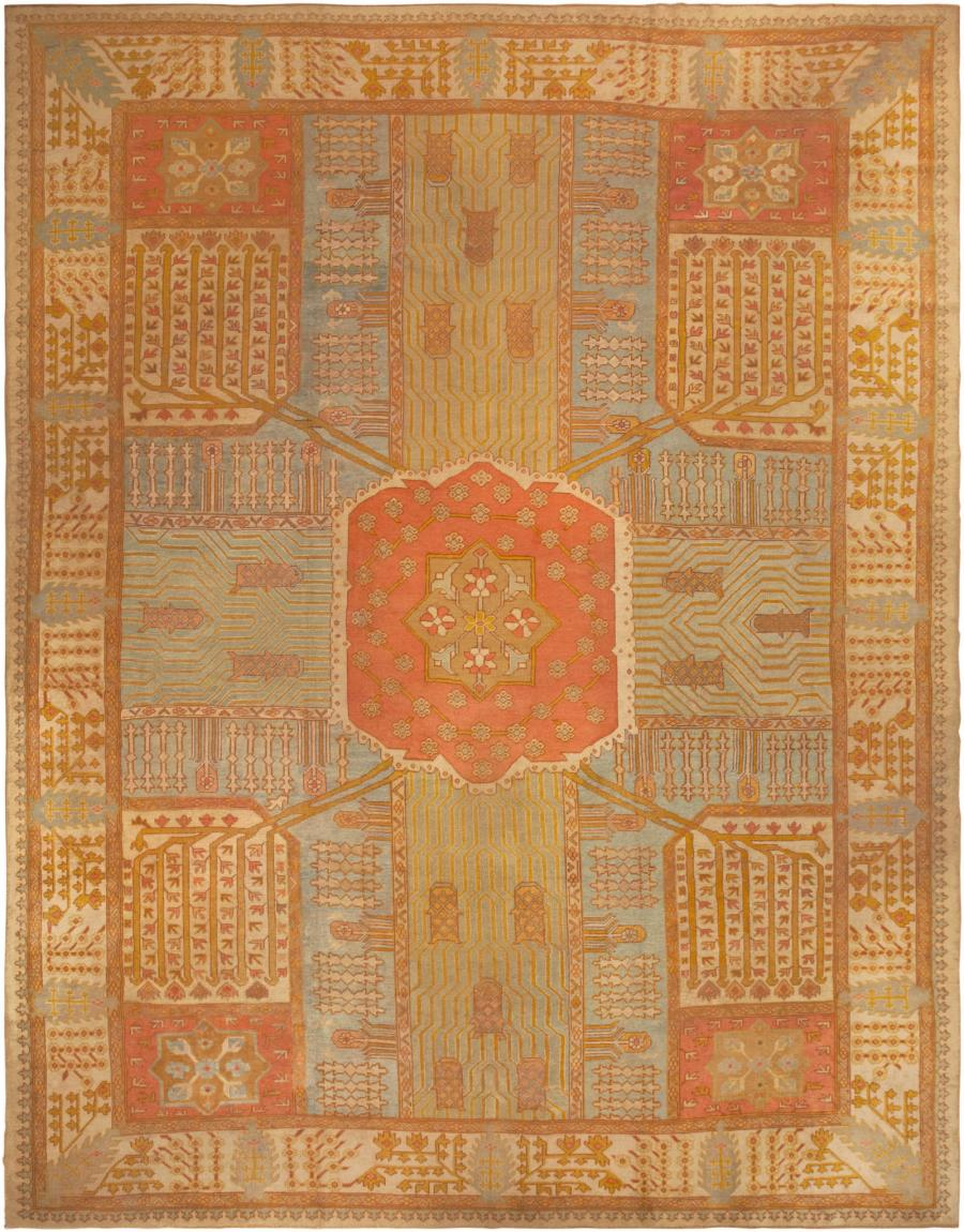 Antique Oushak Rug 44442 Main Image - By Nazmiyal