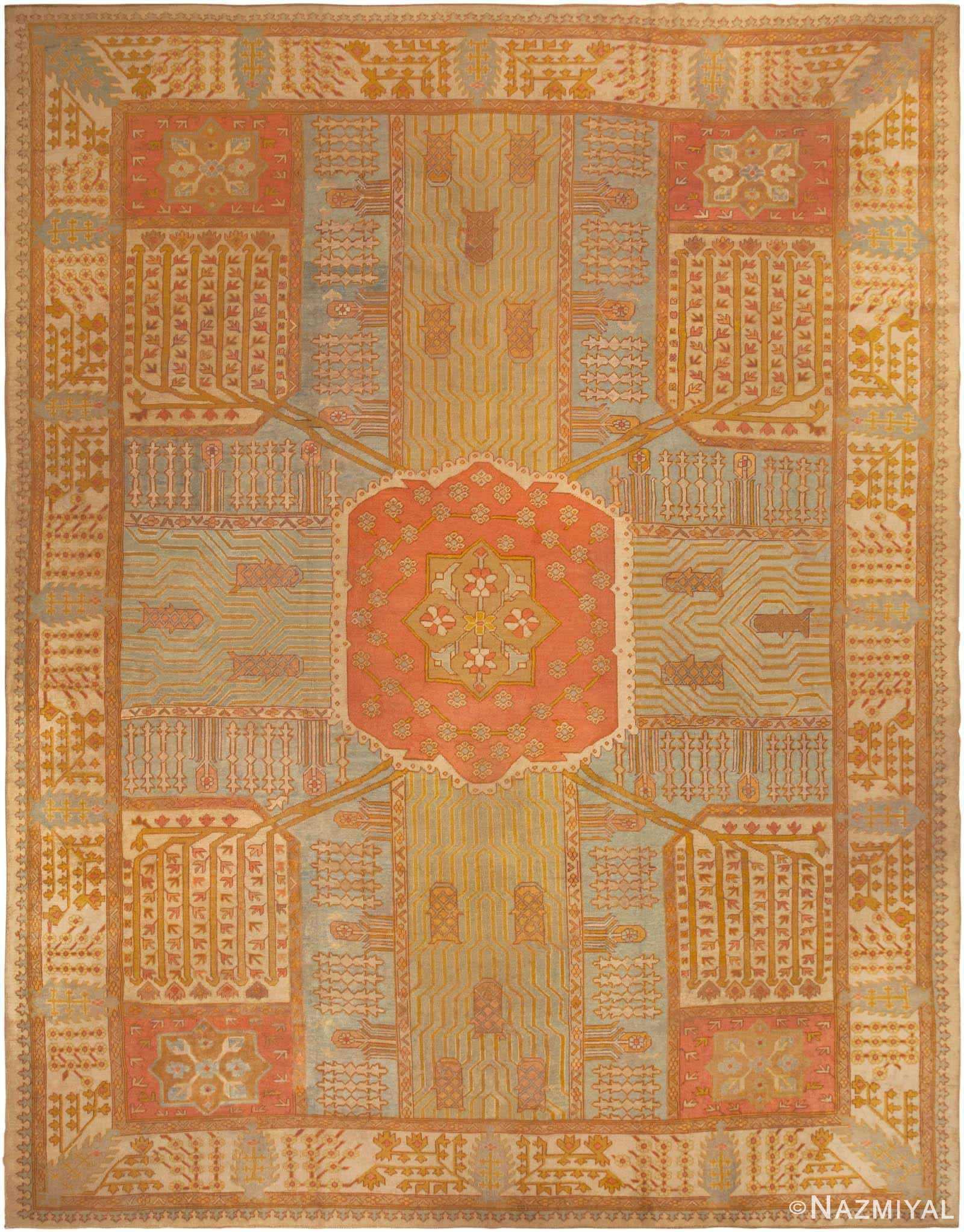 Antique Oushak Rug 44442