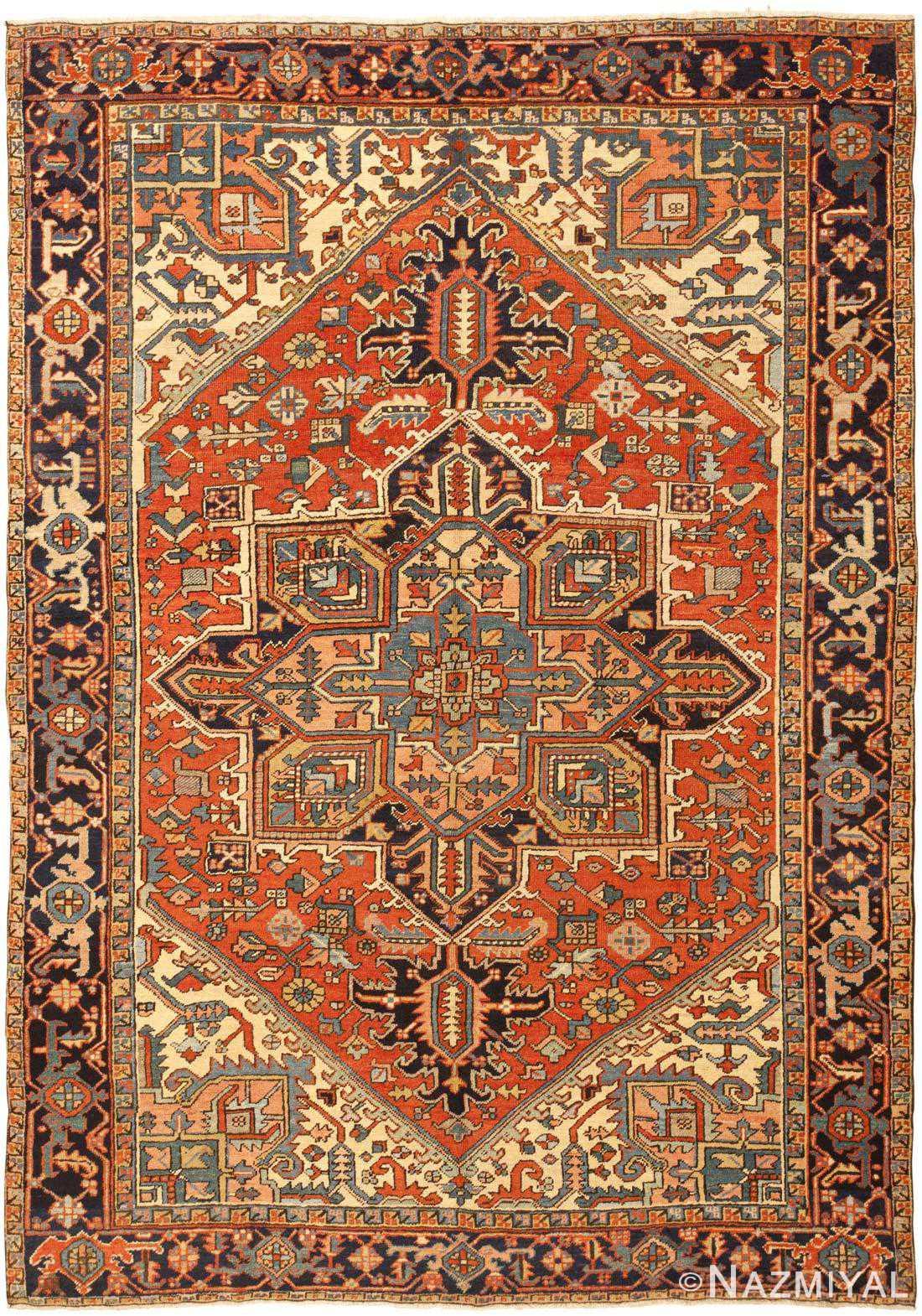 Heriz Serapi Rug Antique Persian Carpet 46290 By Nazmiyal