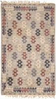 color 46309 Vintage Swedish Rya Rug 47323