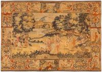 Antique Belgium Tapestry Rug 46403 Color Detail - By Nazmiyal