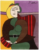 vintage pablo picasso rug 46872 color French Art Deco Carpet 47238
