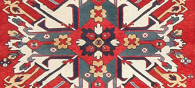 Antique Eagle Kazak Rug Nazmiyal