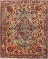 antique mohtashem kashan persian rug 47047 color Antique Persian Bakhtiari Carpet 46190