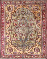 antique mohtashem kashan persian rug 47048 color Fine Antique Persian Mohtashem Kashan Carpet 47197