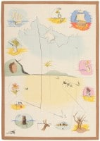 vintage french salvador dali tapestry 822012 tribes of israel8221 color Rugs By Artists