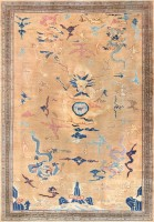 chinese art deco rug 46621 color Antique Chinese Rug 46621