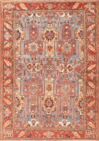 Antique Heriz Serapi Rug 47235 Color Detail - By Nazmiyal