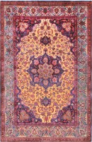 Antique Persian Souf Kashan Rug #47263 Color Detail - By Nazmiyal
