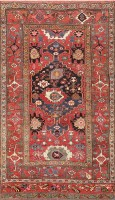 antique persian bidjar carpet 47454 color Antique Tribal Persian Bidjar Carpet 47494
