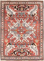 Antique Caucasian Eagle Kazak Rug 47547 Color Detail - By Nazmiyal