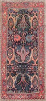 Antique Garous Design Persian Bidjar Carpet 47477 Color Detail - By Nazmiyal