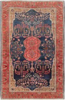 Antique Persian Sarouk Farahan Rug 47522 Color Detail - By Nazmiyal