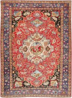 Antique Persian Bakhtiari Rug 47643 Color Detail - By Nazmiyal