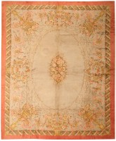 Antique Savonnerie Spanish Carpet 3253 Color Detail - By Nazmiyal