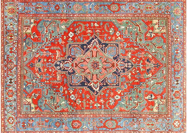 Antique Persian Heriz Rug by Nazmiyal 48005