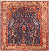 Antique Persian Bakhtiari Rug 48004 Color Detail - By Nazmiyal