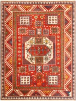 Contemporary Kazak Rug 48015 Color Detail - By Nazmiyal