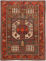 Antique Kazak Rug 46908 Color Detail - By Nazmiyal