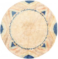 Vintage Chinese Art Deco Circular Rug 48051 Color Detail - By Nazmiyal
