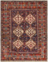 Antique Ghashgai Persian Rug 47538 Color Detail - By Nazmiyal
